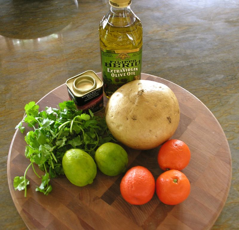 Ingredients for Jicama salad