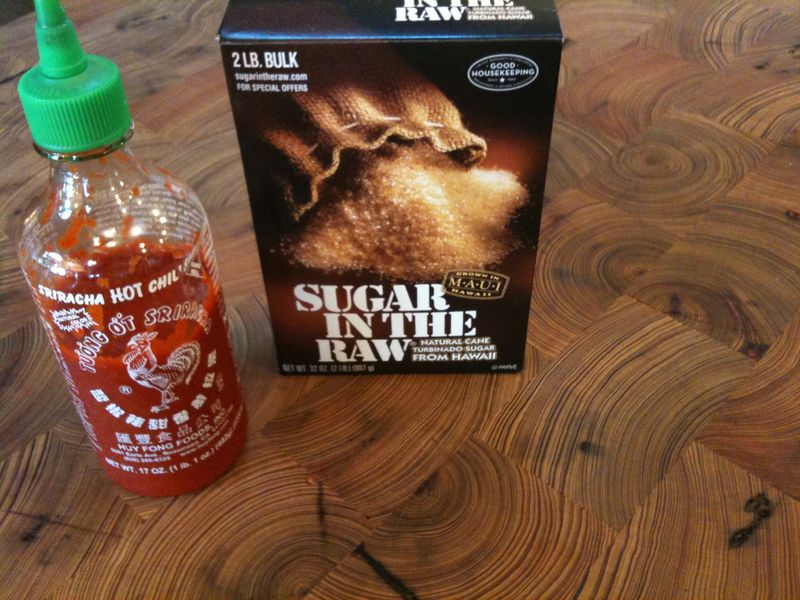 Siracha & Turbinado sugar