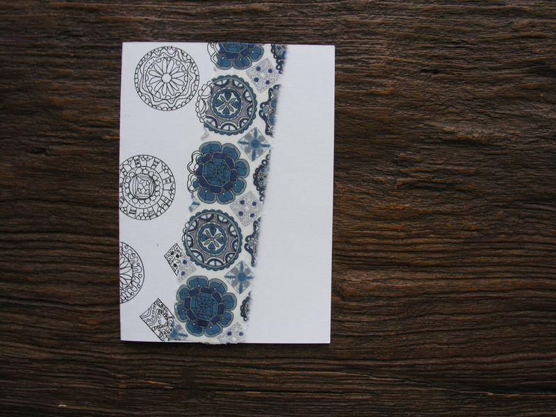 Fabric scraps card 1