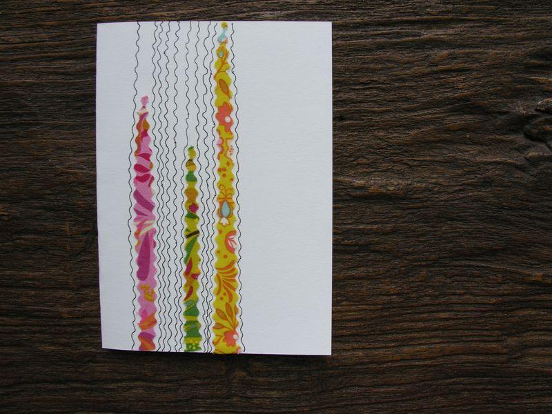 Fabric scraps card 2