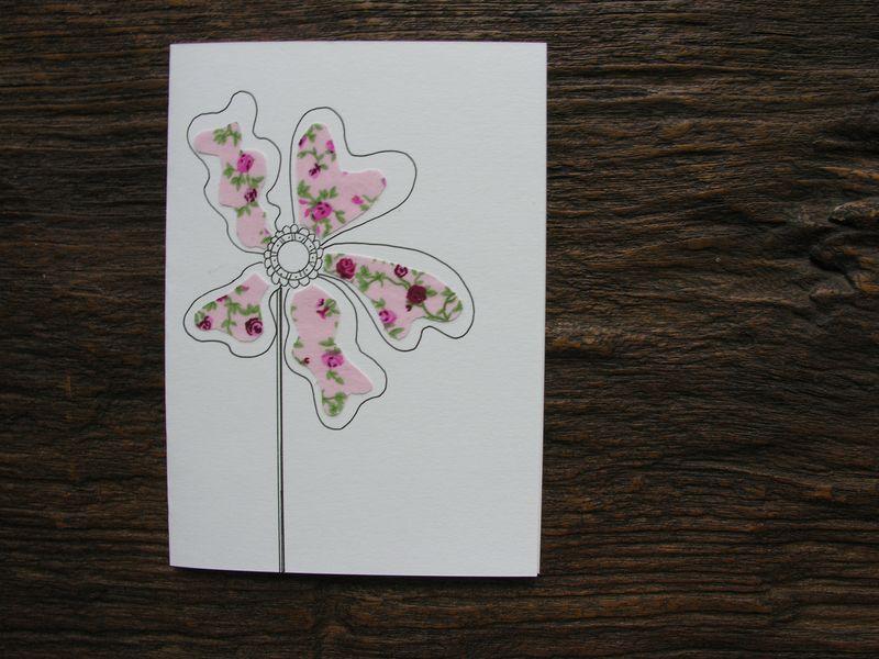 Fabric scraps card 3