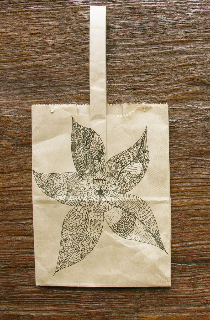 Doodle on paper bag