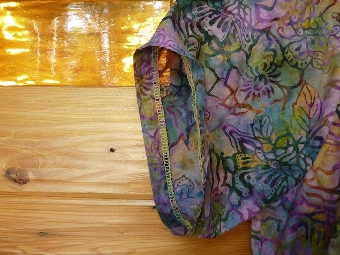 Sew Serendipity tunic dress sleeve detail
