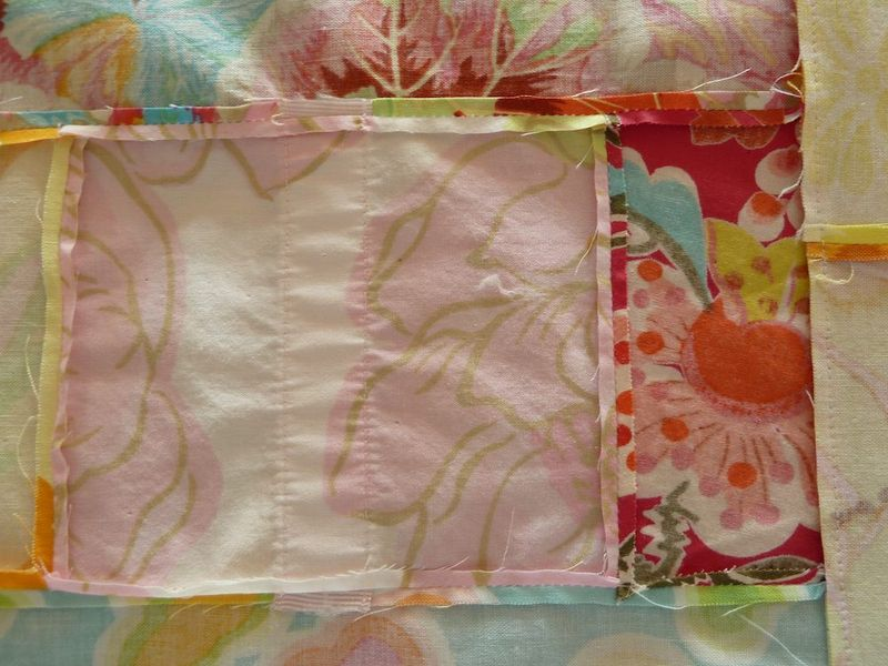 Itty bitty seams on quilt