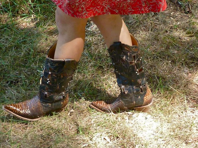 Nica's cowboy boots
