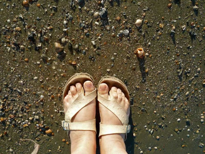 Toes on Tybee Beach
