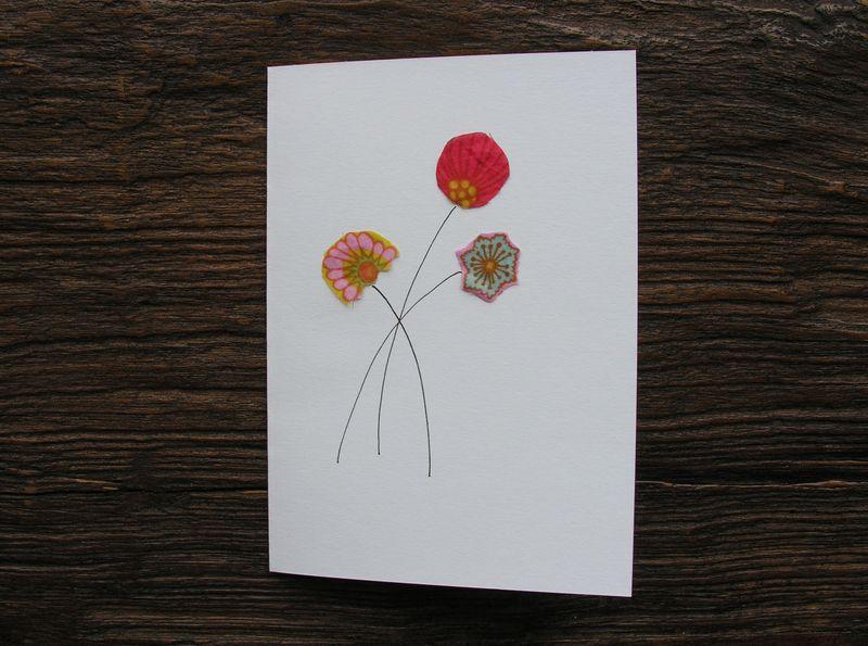 Fabric scraps card 4
