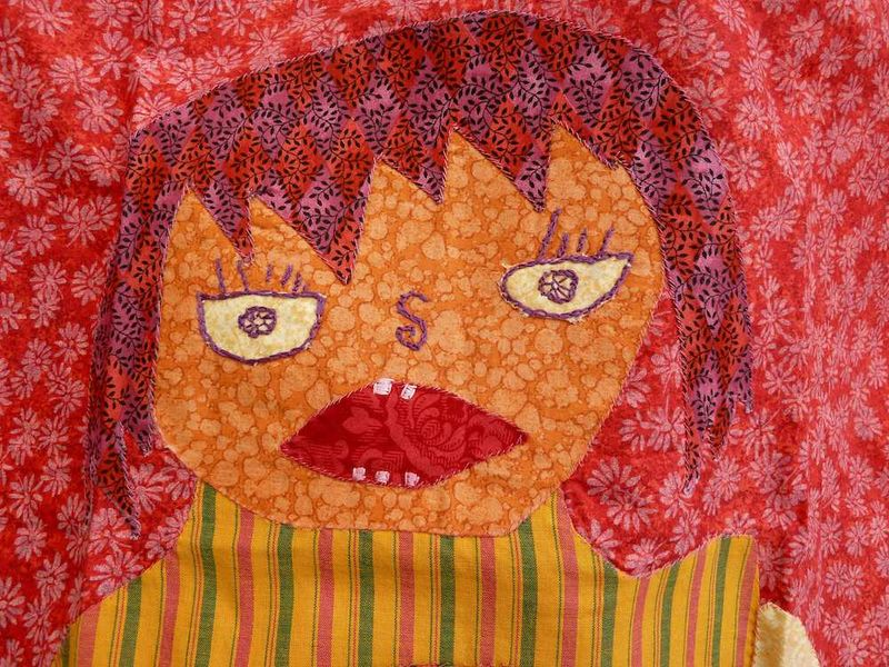 Close up quilt of Nica