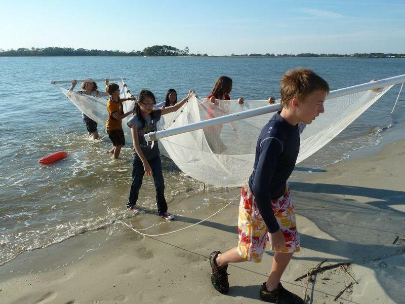 Pulling net Surf Sleuth Class Tybee Island