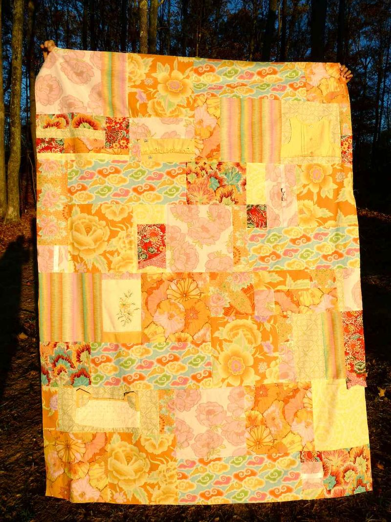 Quilt top girls' dresses
