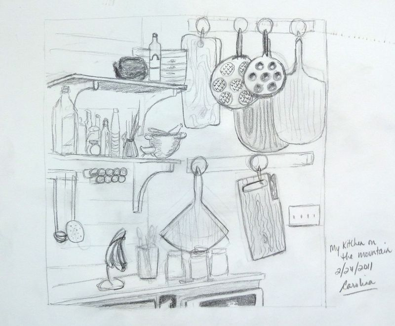 Drawing #2 2:24:2011 kitchen walls