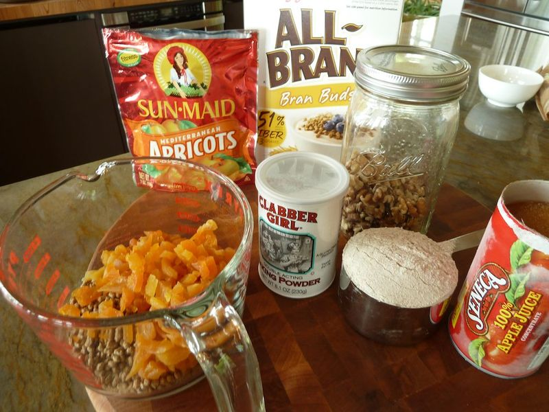 Apricot Loaf Ingredients