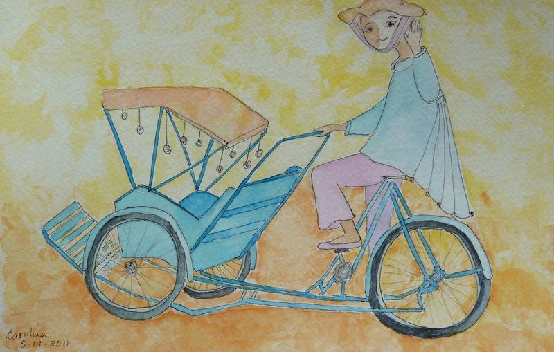 Girl & her cyclo