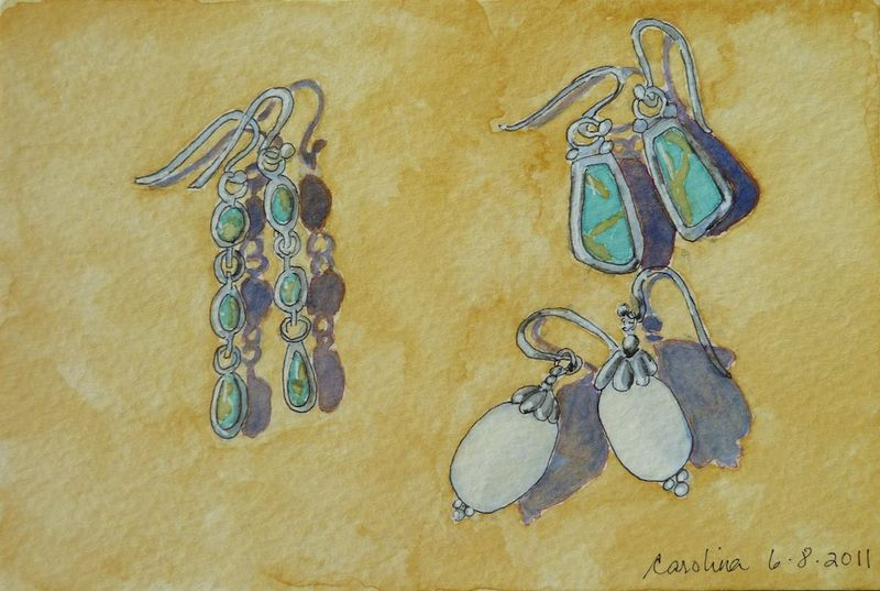Earrings postcard for Eva