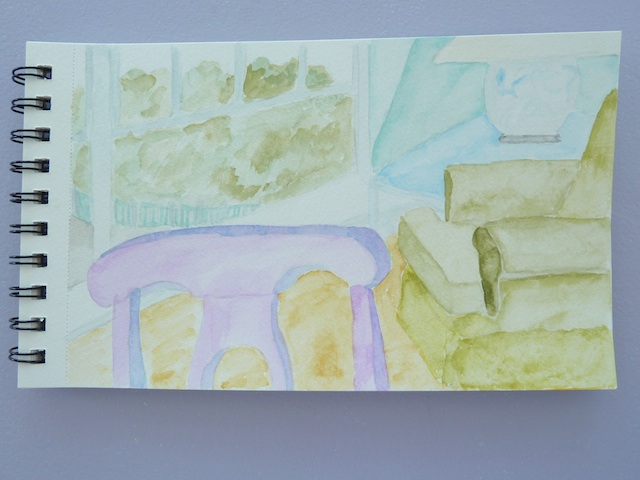 Watercolor of the thinking chair