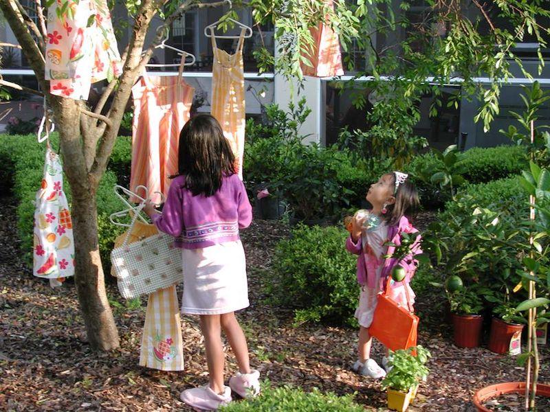 Girls Easter tree