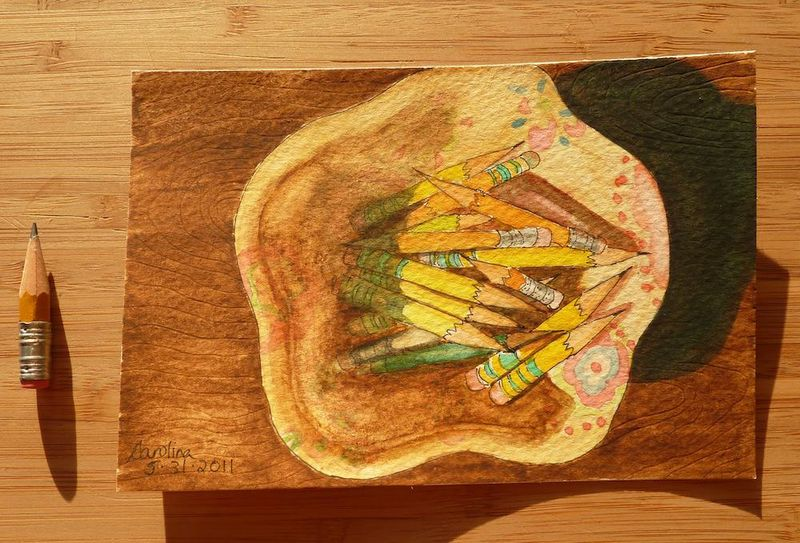Laela's Leftovers painting with pencil