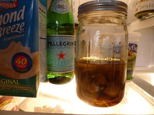 Garlic confit in fridge