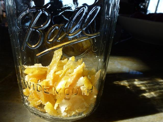 Large jar lemon peel