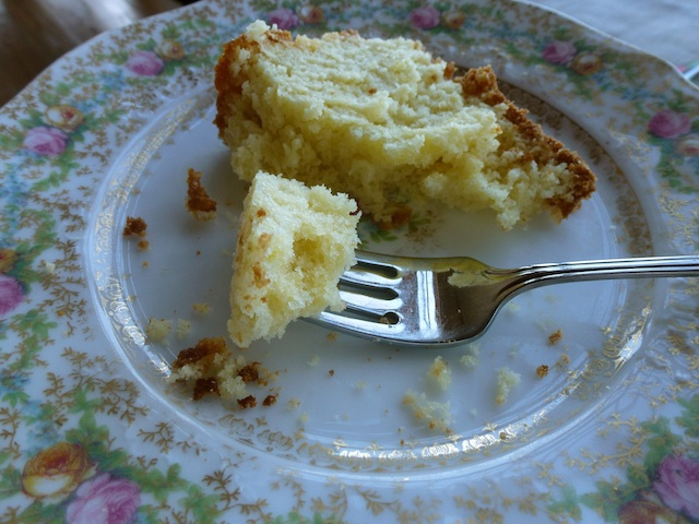 Slice of cream cake