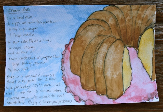 Watercolor cream cake recipe