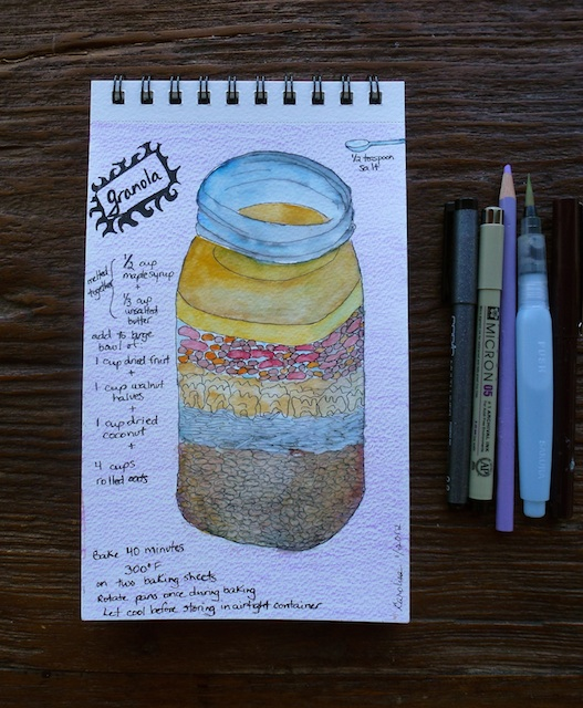 Watercolor granola recipe