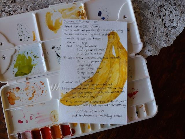 Banana & oatmeal loaf recipe card