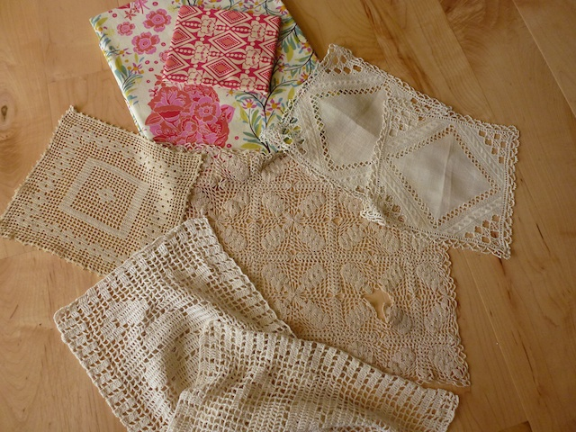 Crochet pieces with fabric for shade 5:2012