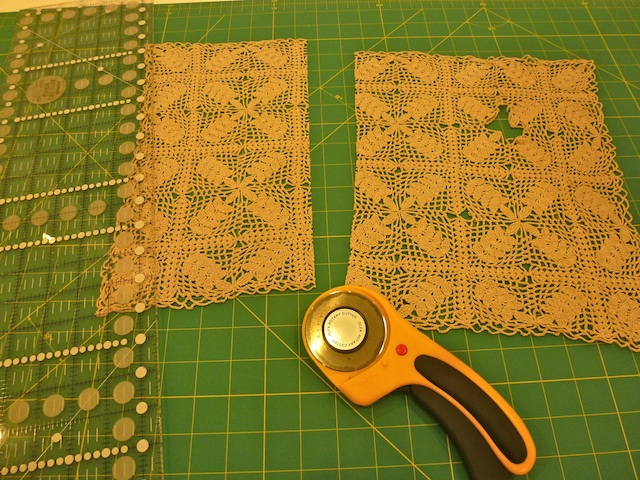 Cutting the doily