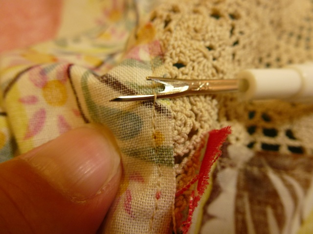 Seam ripper in action