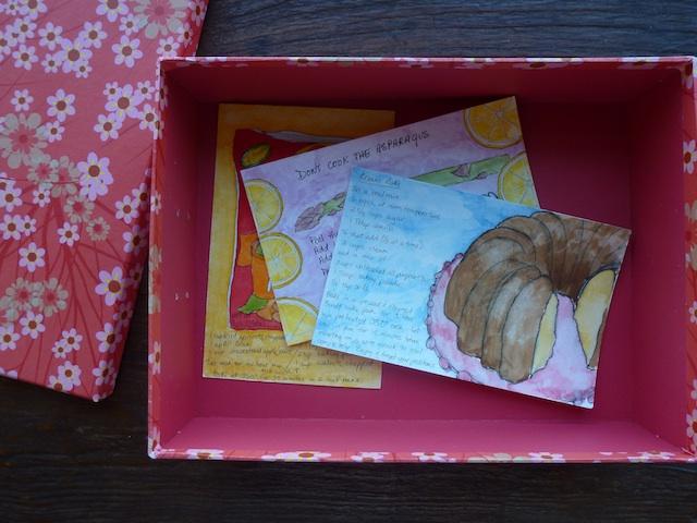 Watercolor recipe box