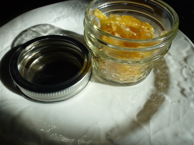 Little jar of candied lemon peel