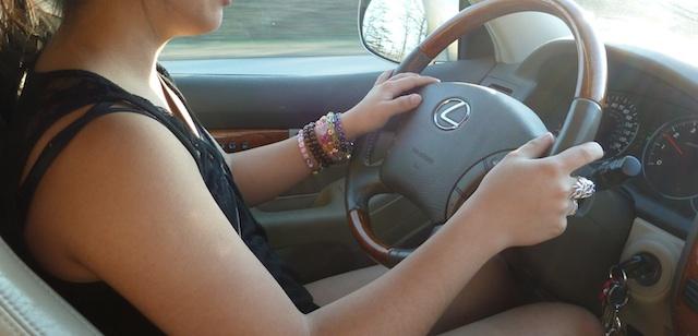 Nica driving