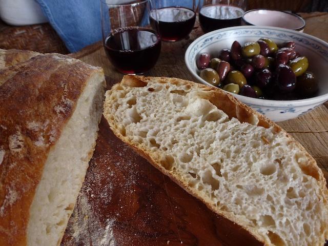 Inside of bread