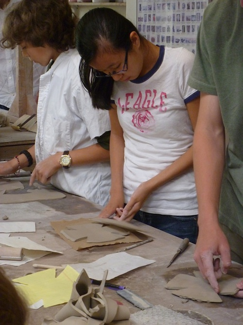 Laela in Clay class Earth Day 2012