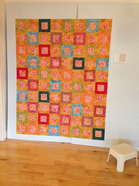 Small plates quilt top