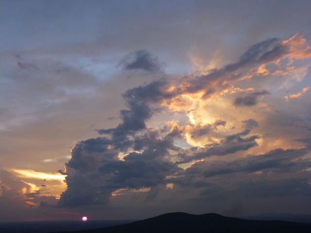 Wednesday's sunset