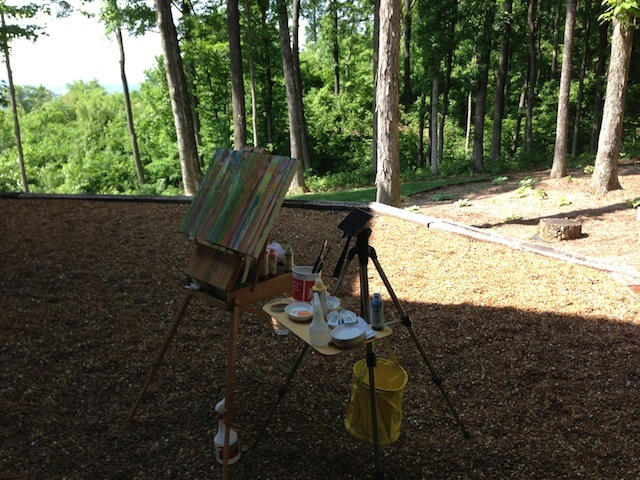 Easel before the woods #2