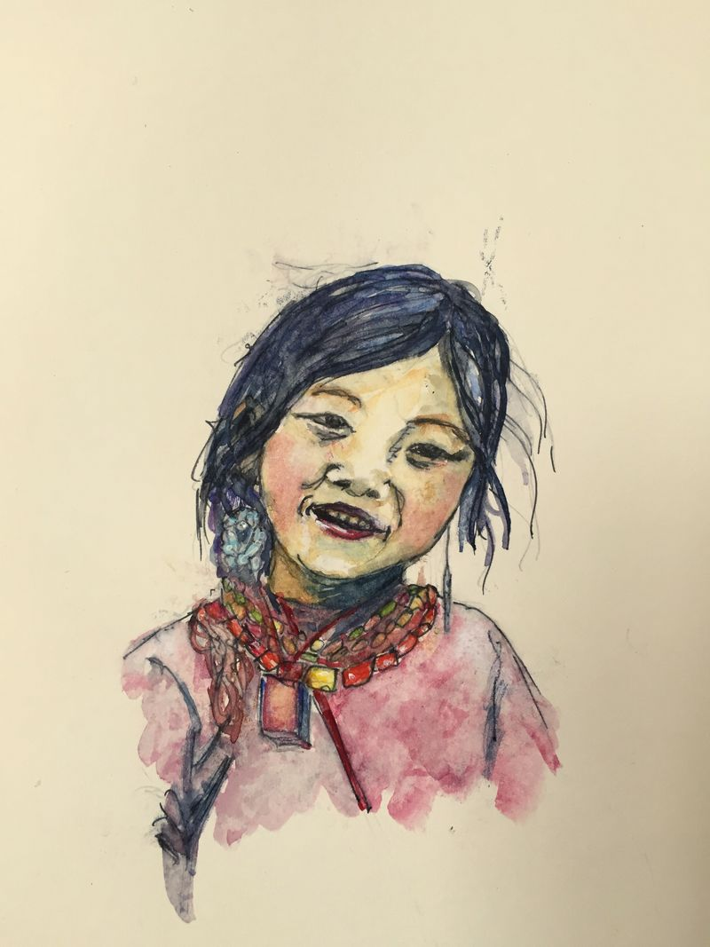 Pinterest Peep #8 Tibet Watercolor Sketchbook Carolina Ellis