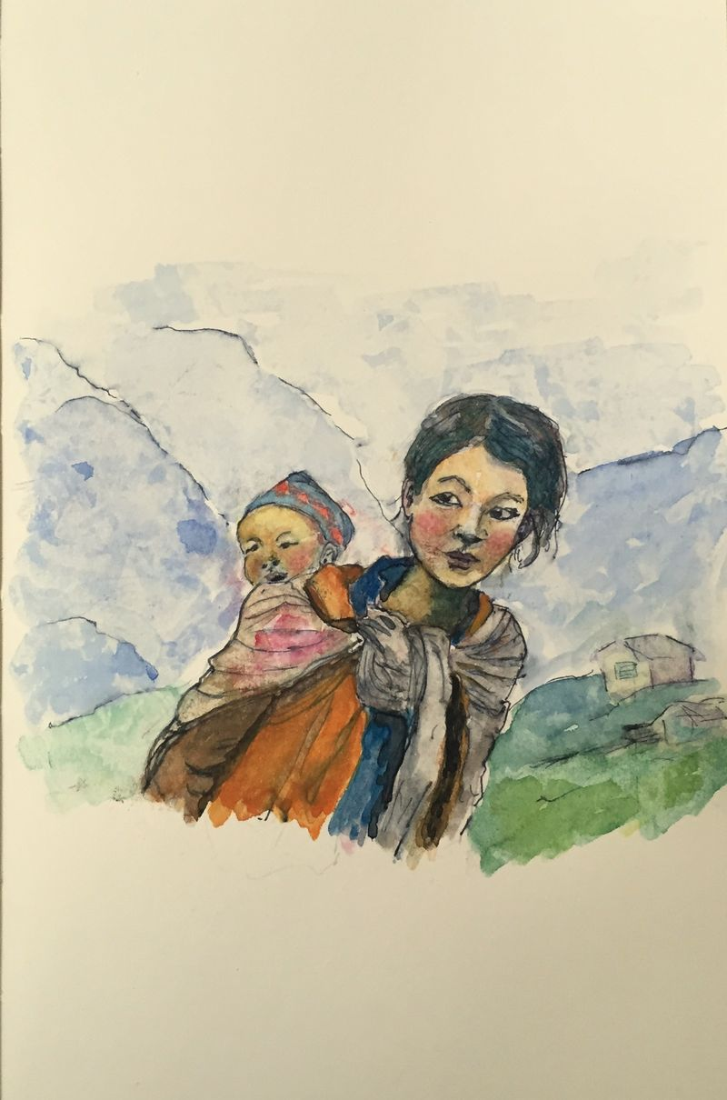 Pinterest Peep #10 Langtang Nepal Watercolor Sketchbook Carolina Ellis