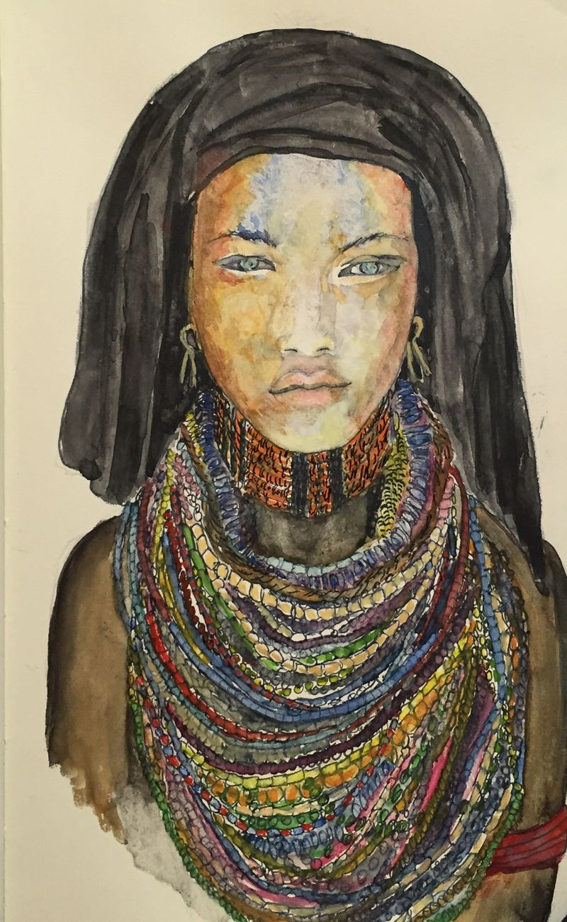 Pinterest Peep #11 Africa Watercolor Sketchbook Carolina Ellis