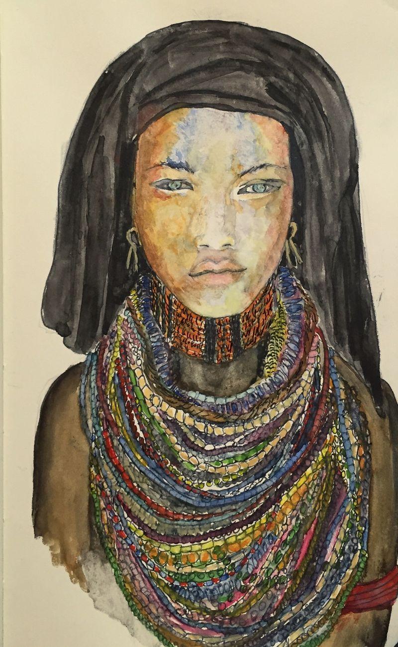 Pinterest Peep #11 Africa Watercolor Sketchbook Carolina Ellis
