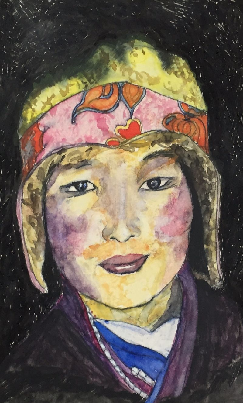 Pinterest Peep # 15 Tibet Watercolor Sketchbook Carolina Ellis