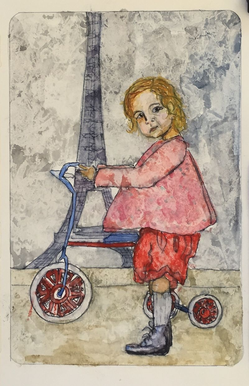 Pinterest Peep #4 Paris Watercolor Sketchbook Carolina Ellis