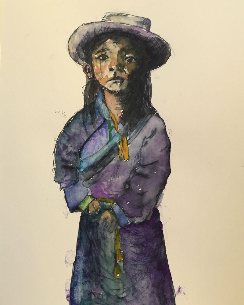 Pinterest Peep #1 Litang, Tibet Watercolor Sketchbook Carolina Ellis